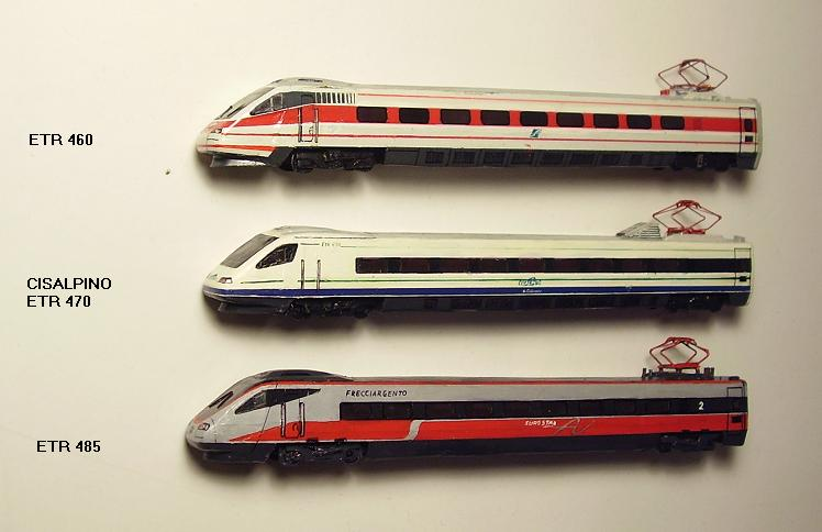 Italian locomotives and multiple units (FS), in scale 1:160 (N)