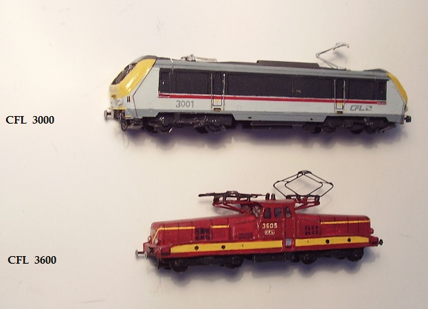 Luxembourgish locomotives and multiple units (CFL), in scale 1:160 (N)
