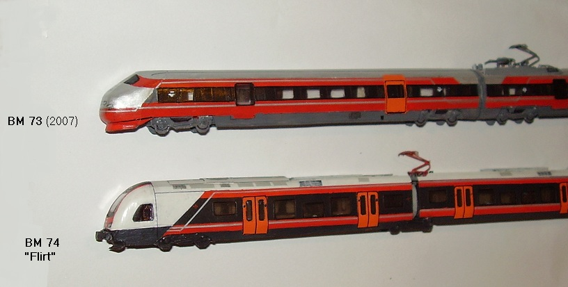 Norwegian locomotives and multiple units in scale 1:160 (N)